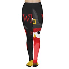 Who is a witch? - red Women s Tights