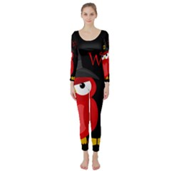 Who is a witch? - red Long Sleeve Catsuit