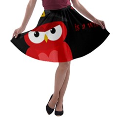 Who is a witch? - red A-line Skater Skirt