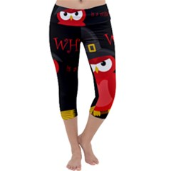 Who is a witch? - red Capri Yoga Leggings