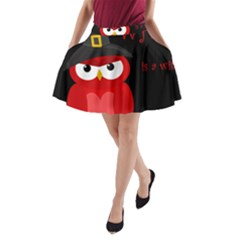 Who is a witch? - red A-Line Pocket Skirt
