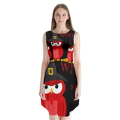 Who Is A Witch?   Red Sleeveless Chiffon Dress