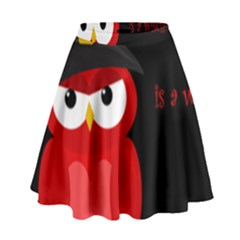 Who is a witch? - red High Waist Skirt