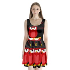 Who is a witch? - red Split Back Mini Dress