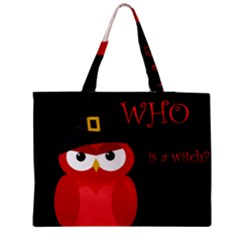 Who Is A Witch?   Red Medium Tote Bag