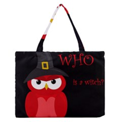Who is a witch? - red Medium Zipper Tote Bag