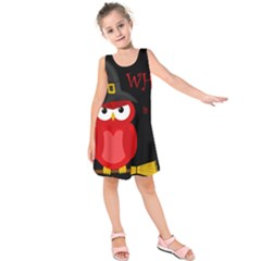 Who is a witch? - red Kids  Sleeveless Dress