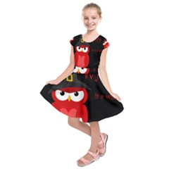 Who is a witch? - red Kids  Short Sleeve Dress