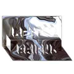 Metallic and Chrome Best Friends 3D Greeting Card (8x4)