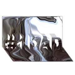 Metallic and Chrome #1 DAD 3D Greeting Card (8x4)