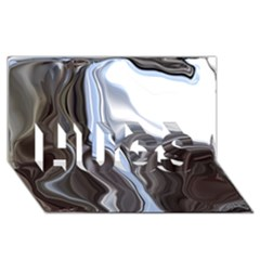 Metallic and Chrome HUGS 3D Greeting Card (8x4)