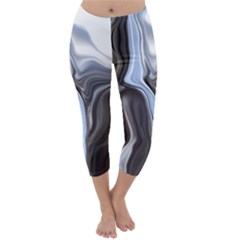 Metallic And Chrome Capri Winter Leggings