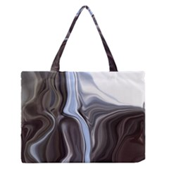 Metallic and Chrome Medium Zipper Tote Bag