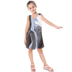 Metallic and Chrome Kids  Sleeveless Dress