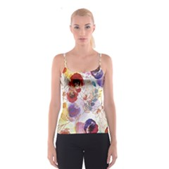 Watercolor Spring Flowers Background Spaghetti Strap Top