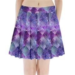 Marbleized Amethyst Pleated Mini Skirt