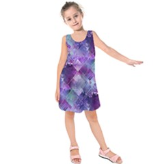 Marbleized Amethyst Kids  Sleeveless Dress