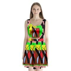 Fantasy  Split Back Mini Dress