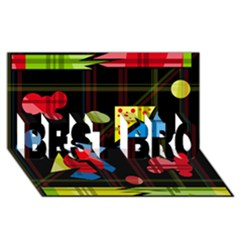 Playful day BEST BRO 3D Greeting Card (8x4)