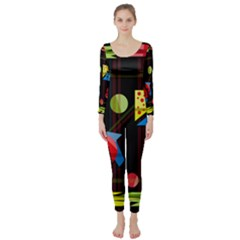 Playful day Long Sleeve Catsuit