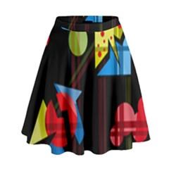 Playful day High Waist Skirt