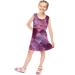 Marbleized Strawberry Kids  Tunic Dress