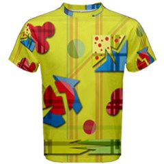 Playful day - yellow  Men s Cotton Tee