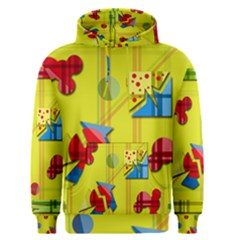 Playful day - yellow  Men s Pullover Hoodie