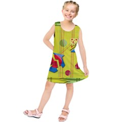 Playful day - yellow  Kids  Tunic Dress