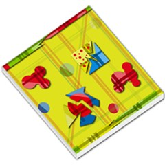 Playful day - yellow  Small Memo Pads