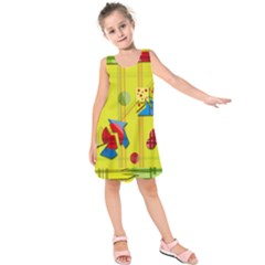 Playful Day   Yellow  Kids  Sleeveless Dress