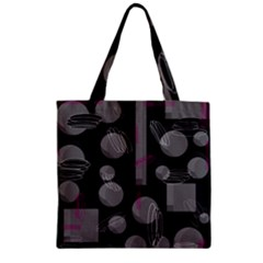 Come down - magenta Zipper Grocery Tote Bag