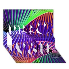 Colorful Rainbow Helix Miss You 3d Greeting Card (7x5)