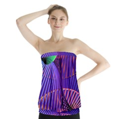 Colorful Rainbow Helix Strapless Top