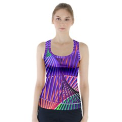 Colorful Rainbow Helix Racer Back Sports Top
