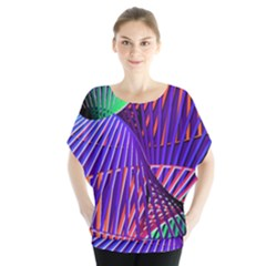 Colorful Rainbow Helix Blouse