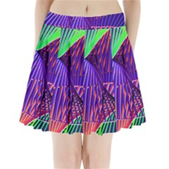 Colorful Rainbow Helix Pleated Mini Skirt