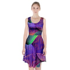 Colorful Rainbow Helix Racerback Midi Dress