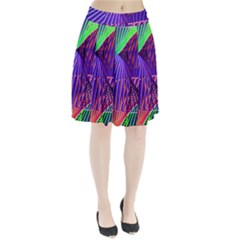 Colorful Rainbow Helix Pleated Skirt