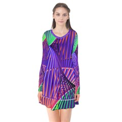 Colorful Rainbow Helix Flare Dress