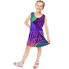 Colorful Rainbow Helix Kids  Tunic Dress