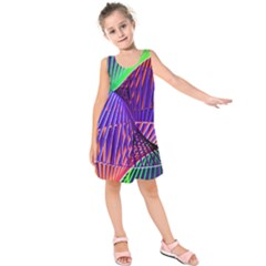 Colorful Rainbow Helix Kids  Sleeveless Dress