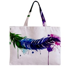Watery Feather Medium Zipper Tote Bag