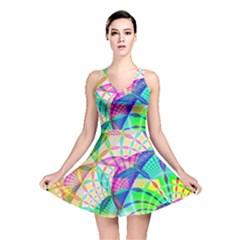 Design Background Concept Fractal Reversible Skater Dress