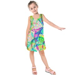 Design Background Concept Fractal Kids  Sleeveless Dress