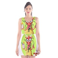Dragon Chinese Chinese Dragon Food Scoop Neck Skater Dress