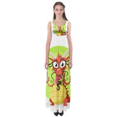 Dragon Chinese Chinese Dragon Food Empire Waist Maxi Dress