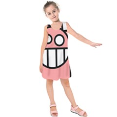 Dragon Head Pink Childish Cartoon Kids  Sleeveless Dress