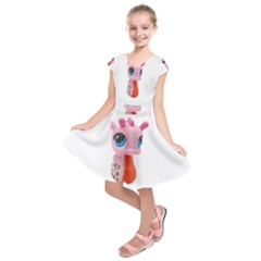 Dragon Toy Pink Plaything Creature Kids  Short Sleeve Dress
