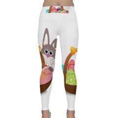 Easter Bunny Eggs Nest Basket Classic Yoga Leggings